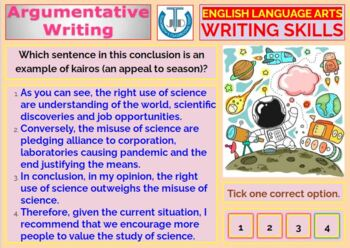 ARGUMENTATIVE WRITING - A READY TO USE LESSON PRESENTATION
