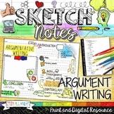 ARGUMENTATIVE WRITING, ESSAY OUTLINE, SKETCHNOTES, TEACHER