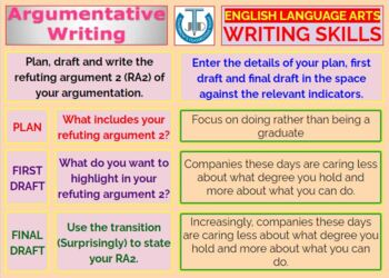 ARGUMENTATIVE WRITING: LESSON & RESOURCES