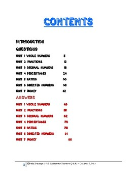 ARITHMETIC PRACTICE QUESTIONS  + ANSWERS