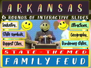 ARKANSAS FAMILY FEUD! Engaging game about cities, geograph