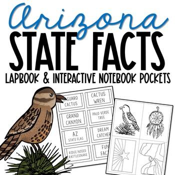 ARIZONA State History Lapbook Project, State Symbols, Stress-Free Design