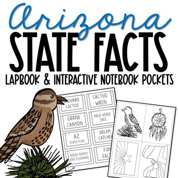 ARIZONA State History Lapbook Project, State Symbols, Stress-Free Design