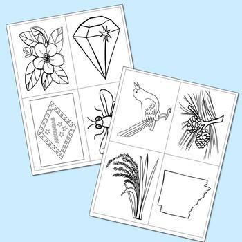 ARKANSAS State History Lapbook Project, State Symbols, Stress-Free Design