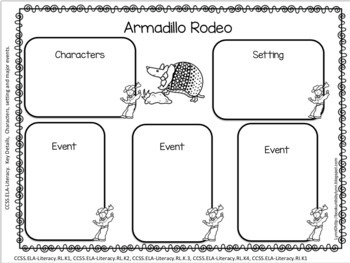 ARMADILLO RODEO BOOK UNIT