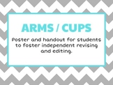 ARMS / CUPS: Poster and student handouts for revising and editing