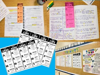 ARMS & CUPS - Revising and Editing Strategy Poster and Bookmarks