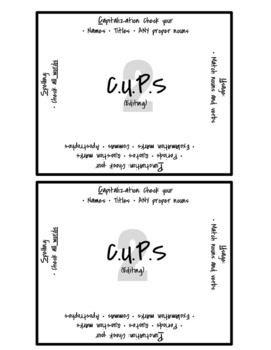 ARMS and CUPS Writing Tool