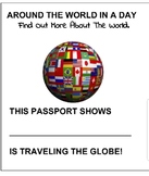 AROUND THE WORLD IN A DAY - GEOGRAPHY - ACTIVITY TRAVEL PASSPORT