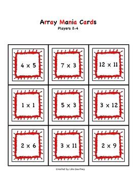 ARRAY MANIA - Common Core Aligned - multiplication / math