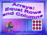 ARRAYS: Equal Rows and Columns {Interactive Power Point}