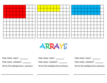 ARRAYS   powerpoint for your smartboard,  document  camera, or projector