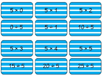 ARRGH!! Multiplying & Dividing by 2, 5, 10 & 1 (ccss3.OA.7)