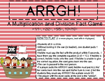 ARRGH!! Multiplying & Dividing by 2 CCSS 3.OA.7