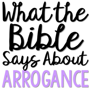 ARROGANCE: Bible Activity for Teens, Brochure Project, Interactive Lesson