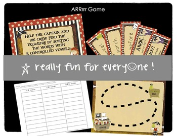 ARRrrr Game with R-Controlled Vowels