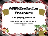 ARRticulation Treasure- A QR code game targeting the Vocalic 'R' sounds