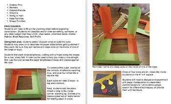 ART: 3D Paper Cube Sculpture - Grades 2-5+
