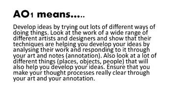 ART. AQA A Level Art Explanation of Assessment Objectives