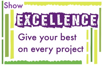 ART Character Education Poster - Excellence