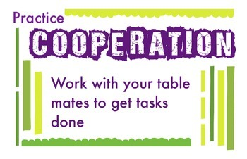 ART Character Education Posters - Cooperation