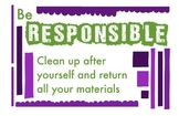 ART Character Education Posters - Responsibility