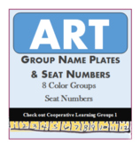 ART, Group, Name Plate, Color Groups, Collaborative Learni