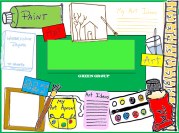 ART, Group, Name Plate, Color Groups, Collaborative Learning, Seat Numbers