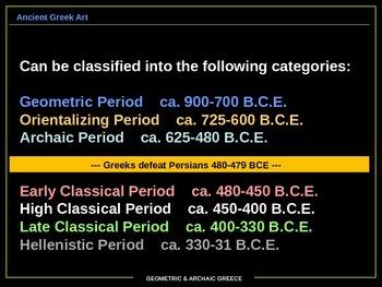 ART HISTORY: Geometric and Archaic Greece