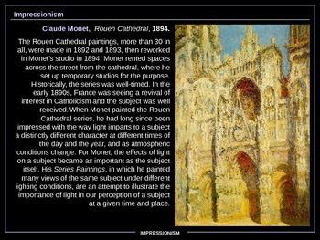 ART HISTORY - Impressionism. MUST SEE!