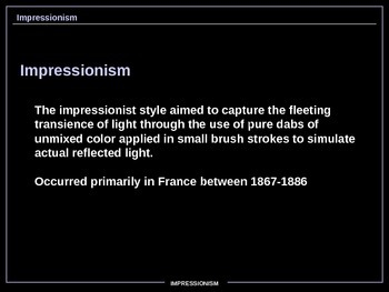 ART HISTORY - Impressionism. MUST SEE!