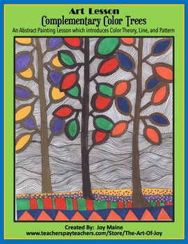ART LESSON: Complementary Color Trees