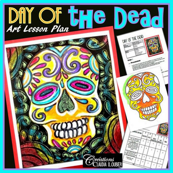 Halloween Art Activity and Lesson for Kids. Autumn, Day of the Dead