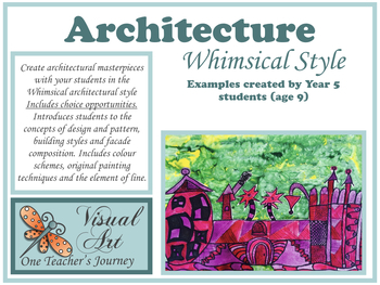Art Lesson (Guided with choice) ARCHITECTURE 3 - WHIMSICAL STORYBOOK
