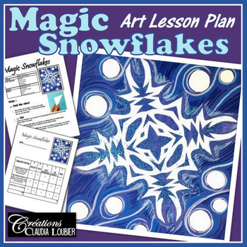 Magical Snowflake : Winter Art Activity and Lesson for Kids