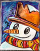 Winter Art Activity and Lesson Plan for Kids: Snowman Close-Up, Christmas