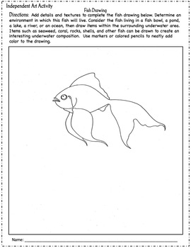 ART LESSONS: 5 Independent Drawing Activities