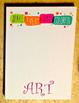 "ART Note Pad - Make Every Day Colorful, 75 Pages, 5"" x 7""  Note Pad,Teacher,Art"