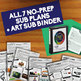 [ART SUB BUNDLE] - All 7 Sub Plans + Editable Sub Binder!  Save 25%