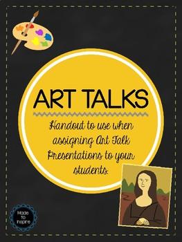 ART TALKS Student Assignment Sheet