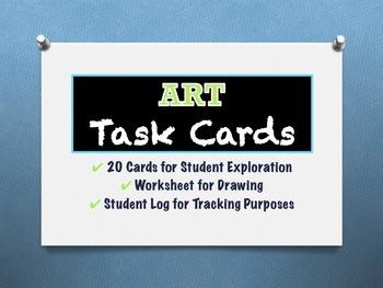 ART TASK CARDS