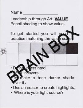 ART-TEACHING GREY SCALE/VALUE through LEADERSHIP
