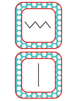 ART - Types of Lines Bulletin Board (Turquoise & Red)