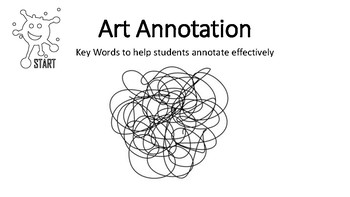 ART Vocabulary Lists to help students annotate
