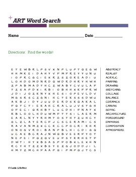 ART Word Search