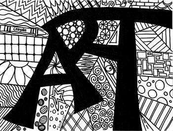 ART coloring sheet