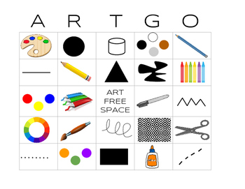 "ARTGO - ""BINGO for your Art Room"""