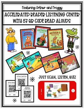 ARTHUR & FROGGY Accelerated Reader AR Listening Center w/57 QR Code READ ALOUDS