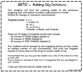 ARTIC- Building Silly Sentences
