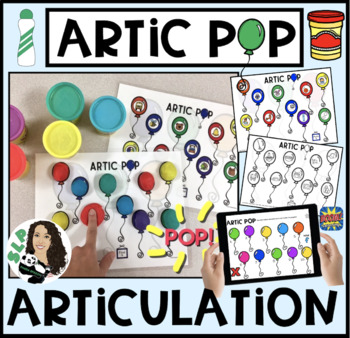 ARTIC Pop! Early Targets! Speech Therapy Activity (+BONUS NO-PRINT ACTIVITY)